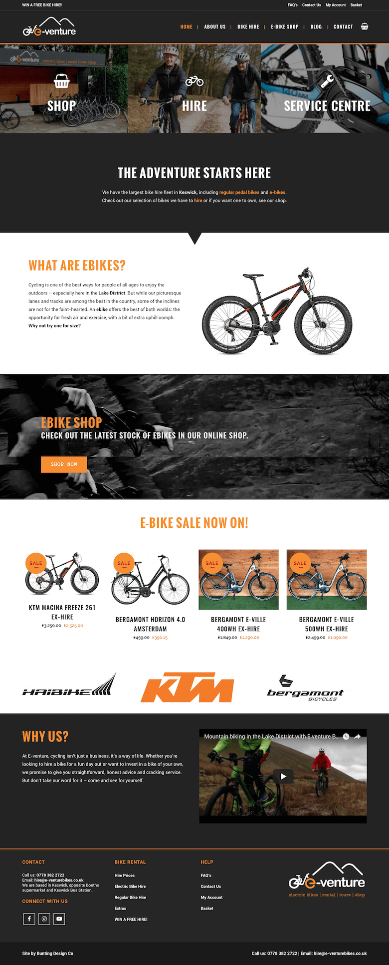 E-Venture ebike website design