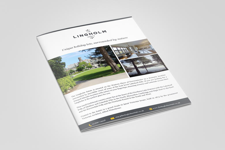 Lingholm Estate, Cumbria Brochure design